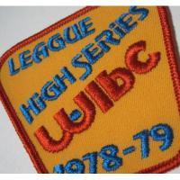 ハンドメイド用タグ&パッチ&アップリケ&ワッペン ビンテージワッペン・「League High Series WIBC 1978-1979」ボーリング