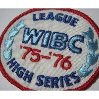 ハンドメイド用タグ&パッチ&アップリケ&ワッペン ビンテージワッペン・「WIBC League 75-76 High Series」ボーリング