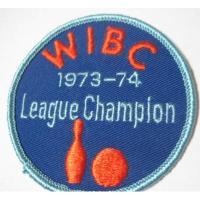 ハンドメイド用タグ&パッチ&アップリケ&ワッペン ビンテージワッペン・「WIBC 1973-1974 League Champion」ボーリング