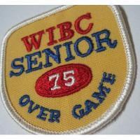 ハンドメイド用タグ&パッチ&アップリケ&ワッペン ビンテージワッペン・「WIBC Senior 75 Over Game」ボーリング