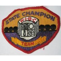 ハンドメイド用タグ&パッチ&アップリケ&ワッペン ビンテージワッペン・「State Champion WIBC」ボーリング
