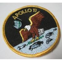 ハンドメイド用タグ&パッチ&アップリケ&ワッペン ビンテージワッペン・デッドストック「APOLLO 11」NASA/アポロ