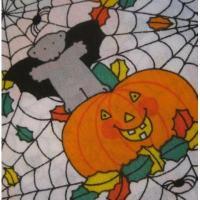 オーナメント&デコレーション ビンテージファブリック「ハロウィン・パンプキン&蝙蝠さん」