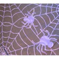 オーナメント&デコレーション ビンテージファブリック「ハロウィン・ブラック&紫の蜘蛛の巣」