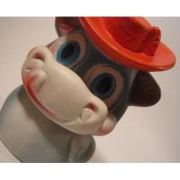 ぬいぐるみ ビンテージ・ラバードール「赤い帽子をかぶったカバさん」