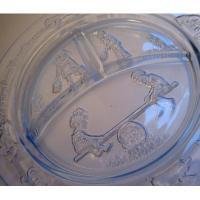 キッチン&リビング Tiara・インディアナグラス・マザーグース・チャイルド用3コンパートメントプレート・ブルー