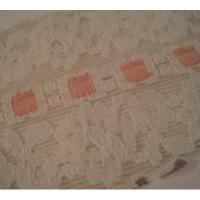 シームテープ&トリム ビンテージ・レーストリム「ホワイトレース&ピンクアクセント」
