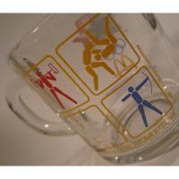 アメリカンミルクグラスブランド アンカーホッキング マクドナルド 1984年 オリンピックマグ D
