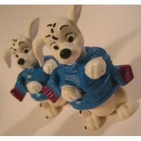 アドバタイジング・組織系 ディズニー・101匹わんちゃん・1997年マクドナルド限定販売フィギュア「青&紫・マフラー」