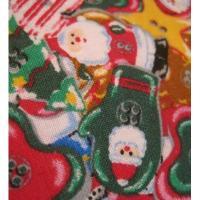 ファブリック ビンテージ・クリスマスはぎれ「カラフルクリスマスアイテム」