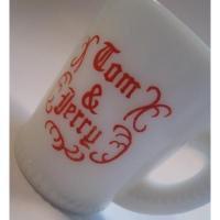 マッキー&ジャネット McKee・マッキー・レッドプリント・Tom & Jerry・エッグノッグカップ・ドットタイプ