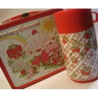 キャラクター 1980年・Aladdin・Strawberry Shortcake・TIN缶ランチボックス・サーモ水筒付