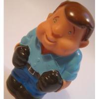 レゴ・プレイモビル・フィッシャープライスフィギュアなど 小さなフィギュア「ブルーシャツ&青い目のワーカーさん」