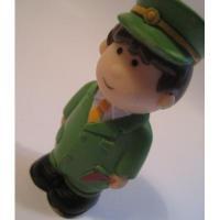 レゴ・プレイモビル・フィッシャープライスフィギュアなど 小さなフィギュア「ソフビ・緑の駅員さん」