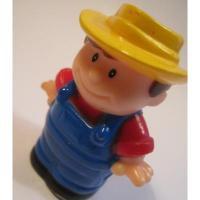 レゴ・プレイモビル・フィッシャープライスフィギュアなど 小さなフィギュア「イエローハット・オーバーオールの男の子」