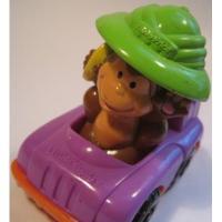 トイ&ホビー 小さなフィギュア「マクドナルドおまけ・Fisher-Price・Little People・車に乗ったおさるさん」