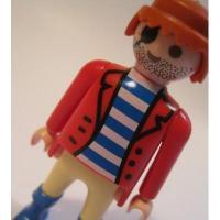 レゴ・プレイモビル・フィッシャープライスフィギュアなど 小さなフィギュア「プレイモビル・ひげの海賊さん」