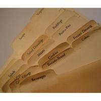 キッチン&リビング ビンテージ・レシピボックス用インデックスカード「フード・18枚セット」