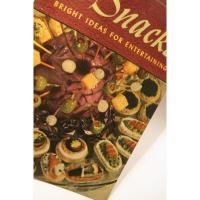レシピブック ビンテージクッキングブック「500 Snacks」スナックレシピ本