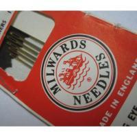その他 イギリス製・ビンテージ・「Milwards Needles」ニードルケース入り・ニードル6本入り