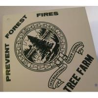 リビング TINサイン「Prevent Forest Fires/Tree Farm」