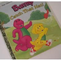 バーニー&テレタビーズ ビンテージ絵本・a Little Golden Book「Barney Catch That Hat!」