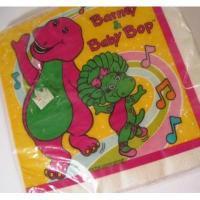 トイ&ホビー 米国製・未使用バーニー・Barney・16枚ナプキンセット