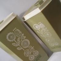 グリーンカラー・Sugar & Coffee・プラスチックキャニスター2個セット