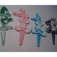 ビンテージ・プラスチック製ケーキデコレーション「ルーニーチューン4個セット」