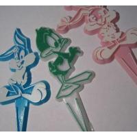 ビンテージ・プラスチック製ケーキデコレーション「ルーニーチューン3個セット」
