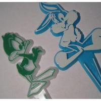 ビンテージ・プラスチック製ケーキデコレーション「ルーニーチューン2個セット」