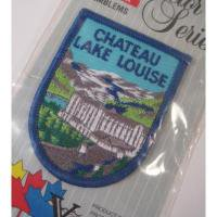 ハンドメイド用タグ&パッチ&アップリケ&ワッペン 未開封・ビンテージワッペン「Chateau Lake Louise, 景色」