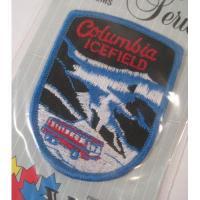 ハンドメイド用タグ&パッチ&アップリケ&ワッペン 未開封・ビンテージワッペン「Columbia Icefield・氷の景色」