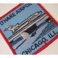 ハンドメイド用タグ&パッチ&アップリケ&ワッペン ビンテージワッペン「O'Hare Airport, Chicago, Ill.・シカゴ・オヘア国際空港」