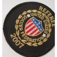 ハンドメイド用タグ&パッチ&アップリケ&ワッペン ビンテージワッペン「Referee, United States Soccer Federation 2007・サッカー審判」
