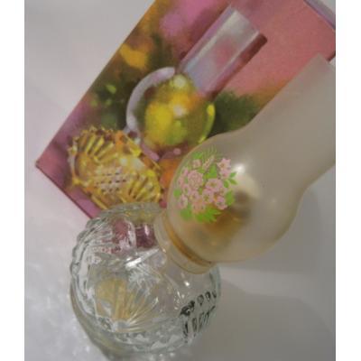AVON雑貨 ボックス付き・エイボン・AVON・Chimney Lamp・お花柄ランプ型コロンボトル