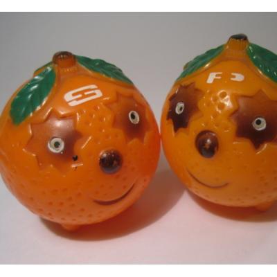 キッチン&リビング プラスチック製・オレンジ・キュートシェイカーセット