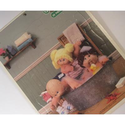 ビンテージキッズ用パズル「キャベツ人形・お風呂・3才から7才・25ピース」
