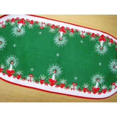 キッチン&リビング ビンテージ・クリスマス用・キャンドル・テーブルランナー