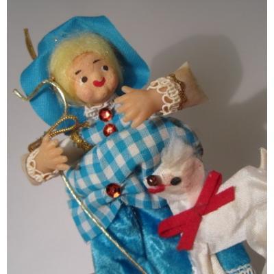クリスマス ビンテージ・クリスマス用オーナメント「羊飼いの女の子」