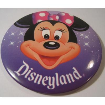 キャラクター ディズニーランド「Disneyland・ミニーマウス」TIN缶バッチ