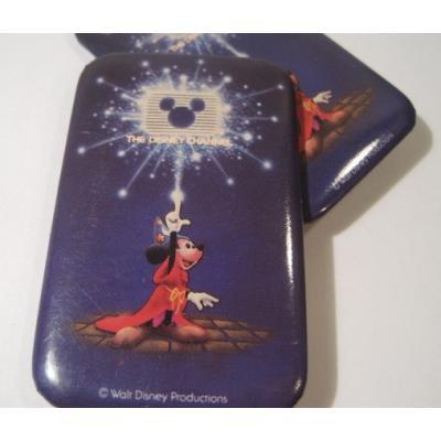 キャラクター ディズニーチャンネル「The Disney Channel・魔法使いのミッキー」スクエアTIN缶バッチ