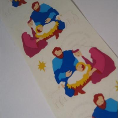 ジャンク雑貨 アメリカ製シール「キリスト誕生」