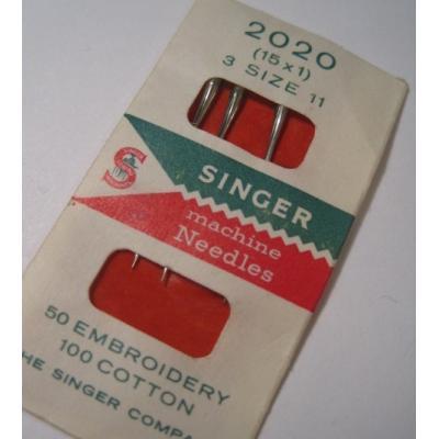 その他 ビンテージソーイングアイテム「オリジナルケース入り・西ドイツ製・Singer・ミシン用針3本セット」