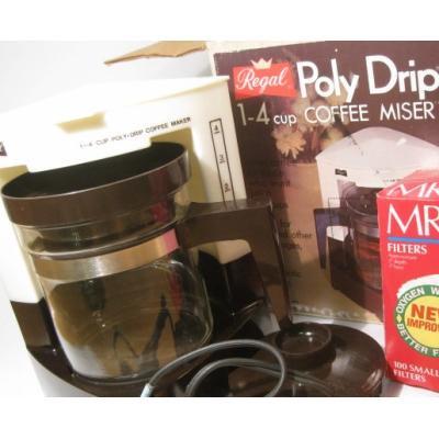 リビング ボックス付・Regal Poly Drip 1-4 Cup用コーヒーメーカー・コーヒーフィルタ付