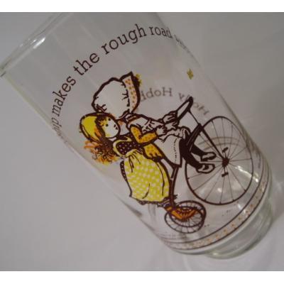 キャラクター ホーリーホビー&コカコーラ「Friendship makes the rough road smooth」グラス【B】