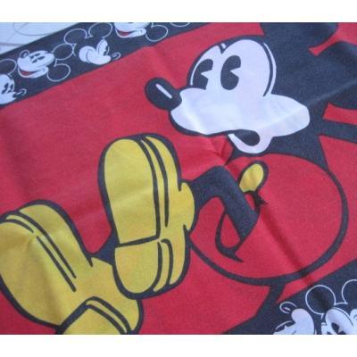 ビンテージキャラクターピローケース「黒と赤・ミッキー」
