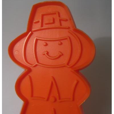 オーナメント&デコレーション ビンテージ・プラスチッククッキーカッター「ホールマーク・オレンジ清教徒」
