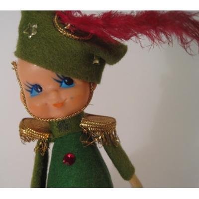 クリスマス ビンテージ・クリスマスディスプレイ「米国輸出用日本製・クリスマスカラーの兵隊さん」