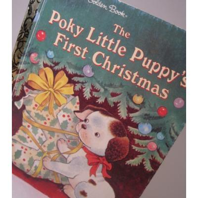 クリスマス絵本 A Little Golden Book 「The Poky Little Puppy`s First Christmas」絵本【C】